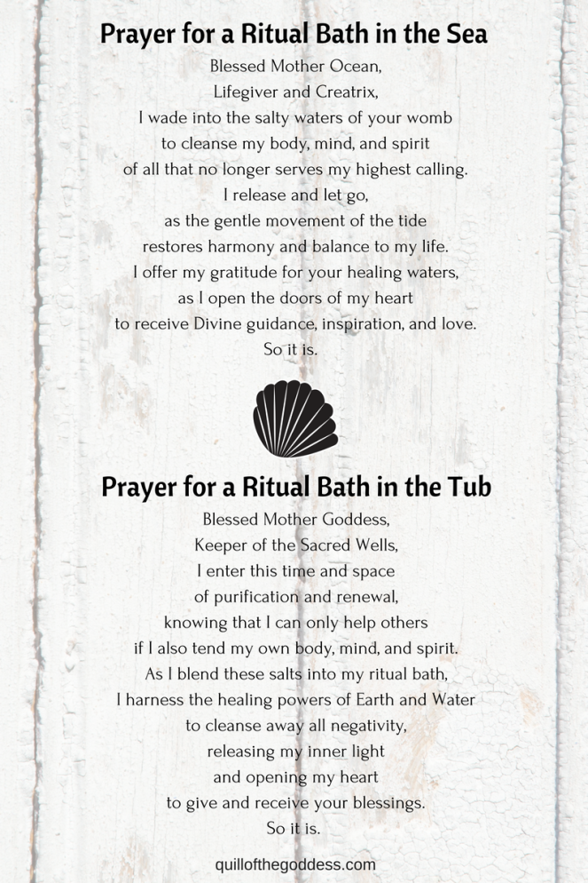 Prayer for a Ritual Bath in the Sea
